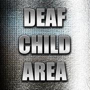 Deaf child sign - stock illustration