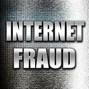 Internet fraud background Stock Illustration