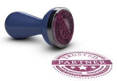 Trusted Business Partner - stock illustration