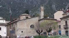 Anversa degli Abruzzi small town in Abruzzo Stock Footage