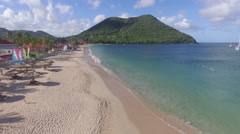Tracking of beach - St Lucia Stock Footage