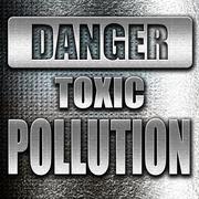 Pollution waste sign - stock illustration