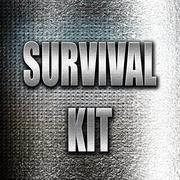 Survival kit sign Stock Illustration
