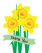 Thank You Card - stock illustration