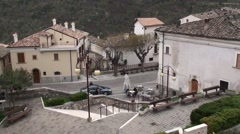 Anversa town of Abruzzo Stock Footage
