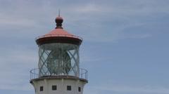 The Kilauea historical lighthouse Stock Footage