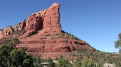 Coffeepot rock in Sedona Arizona Stock Footage