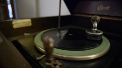 Antique Edison Phonograph Cabinet - stock footage