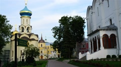 Assumption Cathedral in Sergius Lavra Stock Footage