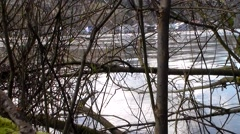 Secluded Shot Across the Willamette River Stock Footage