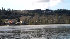 Willamette River Bayside Shot - stock footage