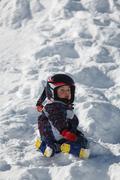 Little boy in the Austrian Alps Stock Photos