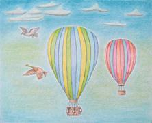 Hot Air Balloons Stock Illustration