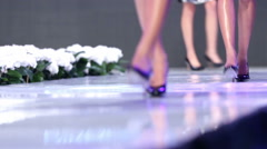 Sofia Fashion Week black shoes Stock Footage