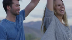 Medium shot of couple dancing / Mona, Utah, United States Stock Footage