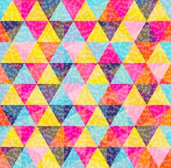 Geometry pattern of colorful triangle with texture - stock illustration