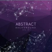 Abstract 3d polygonal background. Low poly futuristic  design with connecting - stock illustration