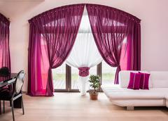 Stock Photo of Elegant drapes and curtain