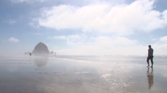 Beautiful Warm Day At The Oregon Coast Stock Footage