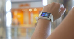 Smart Watch on the Wrist of User - stock footage