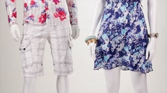 Summer clothing in the wind. Stock Footage