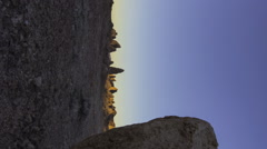 2axis MoCo Time Lapse of Morning Desert Landscape -Vertical- Stock Footage