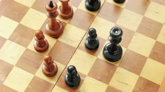 Chess game. Rook endgame. Black wins. - stock footage
