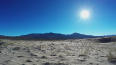 Wide Shot Mojave Desert In Winter- Kelso California Stock Footage