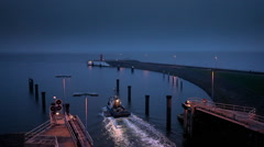 Port Buesum at the North Sea Stock Footage