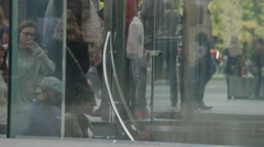 Medium time lapse shot of elevator on city sidewalk / New York, New York, United Stock Footage