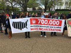 Pro-marijuana rally in Washington, D.C. Stock Photos