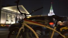 Night traffic near Kremlin  Stock Footage