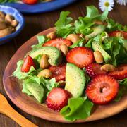 Strawberry, Avocado, Lettuce Salad - stock photo