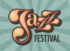 Jazz festival flyer - stock illustration