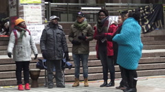 Black Lives Matter Tent City Toronto, Canada Stock Footage