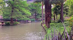 Austin Texas Riverwalk Daytime Establishing Shot - stock footage