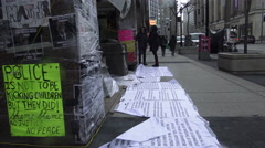 Black Lives Matter Tent City Toronto, April 2016, Canada Stock Footage