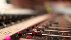 Studio. music studio close up of keyboards and audio design Stock Footage