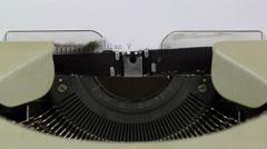 Curriculum Vitae - Typewriter title - stock footage