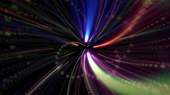 Rotation Shiny Galaxy Lines and Particles Stock Footage