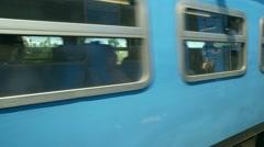Sri Lanka - Slow motion ride along highland train carriages. - stock footage