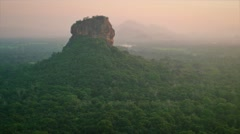 Sun set view of Lion Rock. Sri Lanka Stock Footage