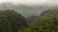 Misty mountain slopes in the Rio Quijos Valley, the Ecuadorian Amazon  Stock Footage