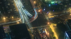 Timelapse of frenetic chinese intersection of cars. Stock Footage