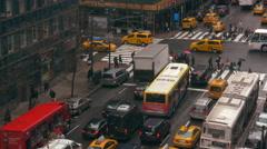 Manhatten Intersection Timelapse Stock Footage