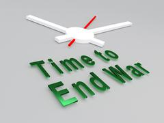 Time to End War concept - stock illustration