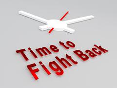 Time to Fight Back concept - stock illustration
