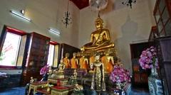 Zoom of Phra Bhudda Chinnaraj in Wat Pho Temple, Bangkok. Stock Footage