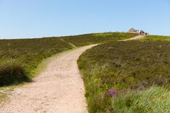 Path to Dunkery Beacon Exmoor Somerset England UK - stock photo