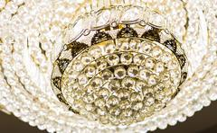 Stock Photo of Chrystal chandelier close-up
